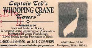 Captain Ted's Whooping Crane Tour - ticket