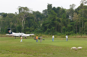 Airfield at Boca Manu